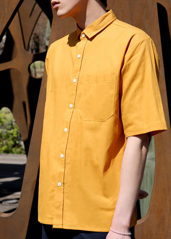 미니멀 반팔 셔츠 (4color) R#2029