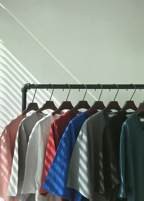 썸머 슬라브 반팔 티셔츠 (8color) T#2191