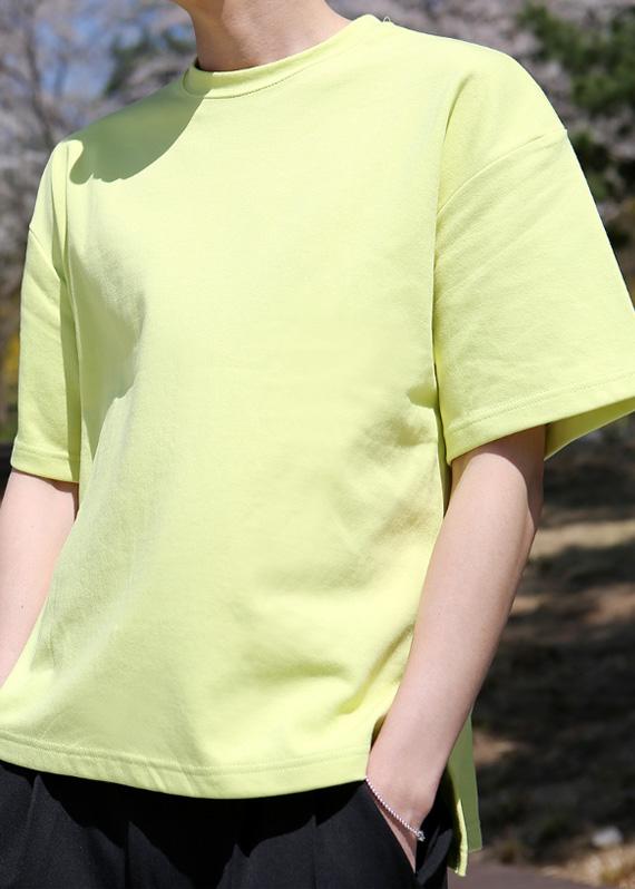 젤리 옆단트임 1/2 티셔츠 (10color) T#2210