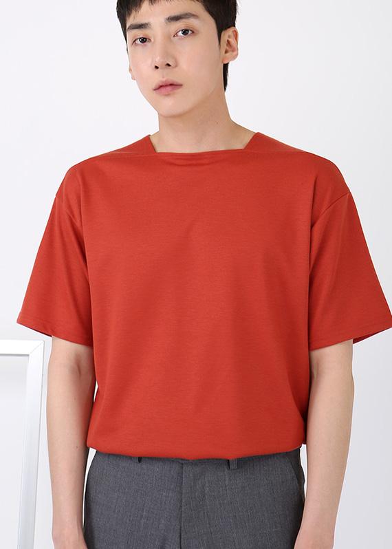 스퀘어넥 1/2 반팔 티셔츠 (5color) T#2248
