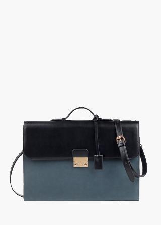 모던 배색 서류가방 (3color) B#CP020