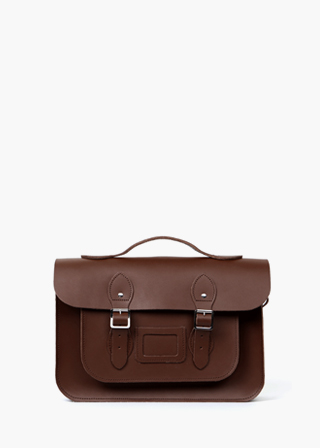 "LEATHER SATCHEL 15"" (DARK BROWN) B#LS1502"