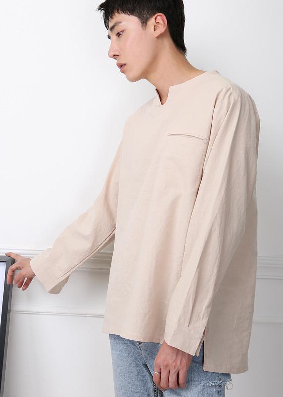 필립 린넨 트임미니멀 셔츠 (3color) R#2061